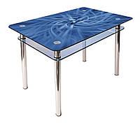 Стол обеденный стеклянный КС-1 90х60 (фотопечать №96) (Антоник ТМ)