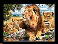 """Набор алмазной вышивки """"Львы"""", фото 1"""