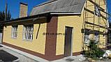 Термопанели фасадные на стеродуре , фактура Колотый кирпич, размер 500х500мм, толщина 100 мм, фото 4