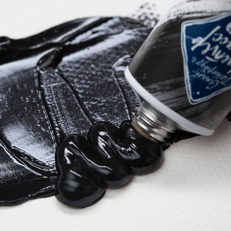 Краска масляная МАСТЕР-КЛАСС, сажа газовая (801), 46 мл, ЗХК Невская палитра