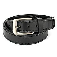 Ремень мужской кожаный SF-352 черный (125 см), фото 1