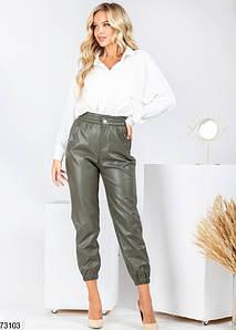 Р. 40-46 Женские кожаные брюки - джоггеры