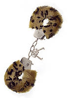Наручники Metal Handcuff with Plush Leopard