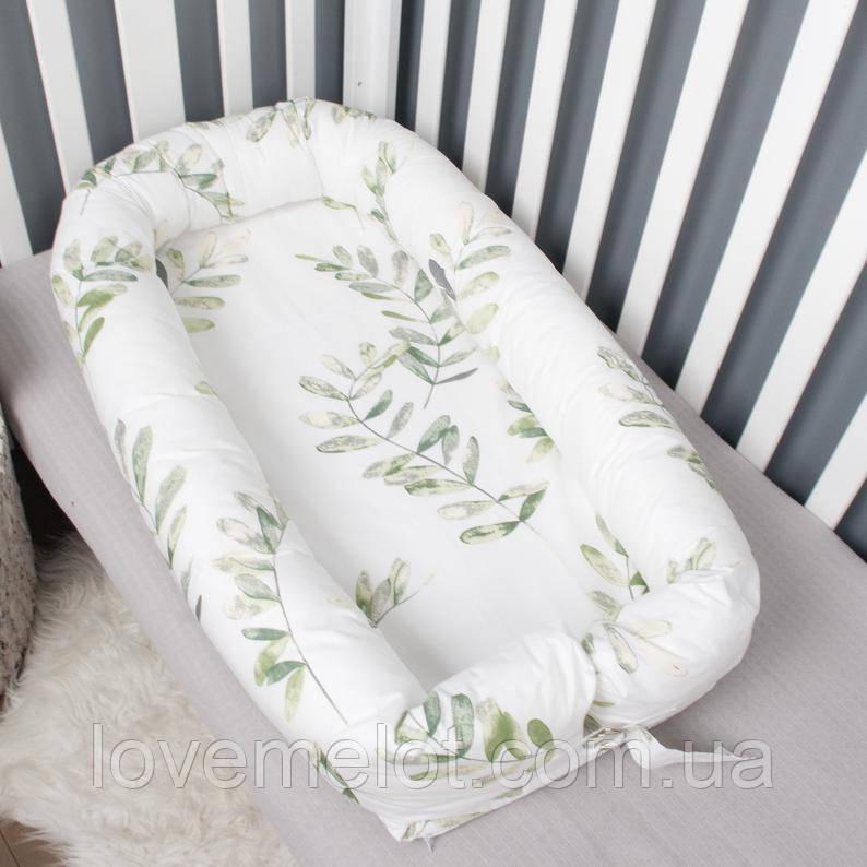 Кокон гніздечко зі з'ємним чохлом, бейбинест, ліжечко для новонароджених, люлька, бортики в дитячу ліжко