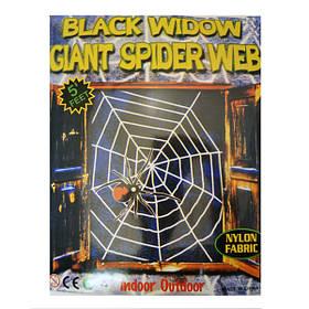 Павутиння декоративне на Хелловін, велюрове, біле, Паутина велюровая на хэллоуин