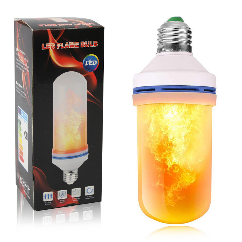 Лампа с имитацией эффекта пламени огня Е27 Led Flame Bulb