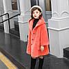 Новые детские корейские зернистые стрижки из овец, цельное меховое пальто для девочек средней длины из ягненка