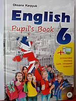 Підручник Англійська мова 6 клас English 6. Pupil's book. Нова програма Карпюк