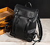 Рюкзак мужской кожаный Feidika Bolo Original Черный, фото 4