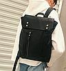Рюкзак мужской кожаный Feidika Bolo Original Черный, фото 6