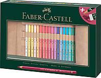 """Набор цветных карандашей Faber-Castell Polychromos 30 цветов в пенале """"ролл"""" с аксессуарами, 110030"""