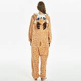 Пижамы кигуруми для взрослых мультяшная теплая пижама комбинезон кигуруми Олень с капюшоном, фото 5
