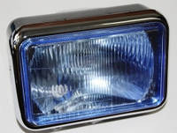 Фара передняя (квадратная синяя) для мотоцикла МТ