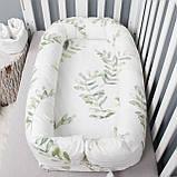Кокон гніздечко зі з'ємним чохлом, бейбинест, ліжечко для новонароджених, люлька, бортики в дитячу ліжко, фото 2