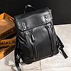 Рюкзак мужской кожаный Feidika Bolo Original Черный, фото 3