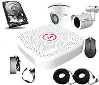 Универсальный комплект AHD видеонаблюдения Longse 2M1V1N c 2 камерами 2 Мп + HDD 500Гб, КОД: 146784