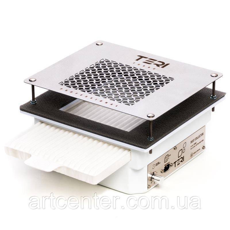 Профессиональная встраиваемая маникюрная вытяжка Teri Turbo с HEPA фильтром (нержавеющая сетка с надписями)