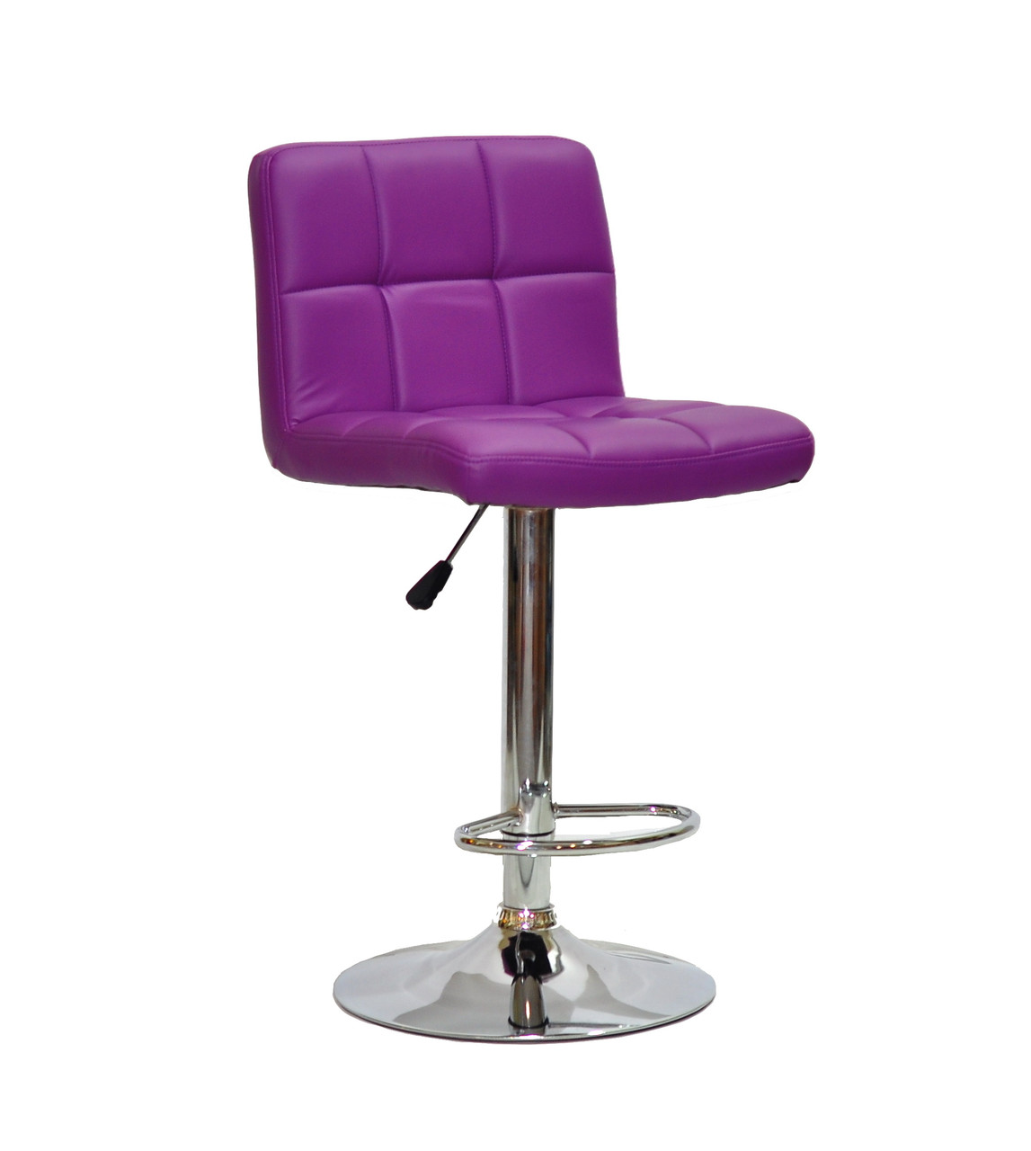 Стул визажиста Арно пурпурный кожзам + хром/ Arno  BAR CH - Base