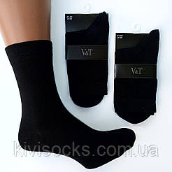 Мужские классические носки V&T socks гладь однотонные