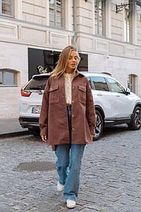 """Женское кашемировое пальто-рубашка """"Chantal"""" с карманами"""