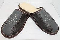Тапочки кожаные  мужские зимние, фото 1