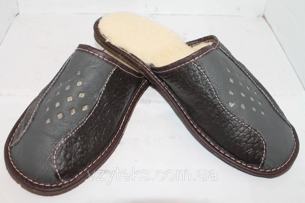 Купить Тапочки кожаные мужские зимние оптом Хмельницкий  aefa14487fe9b