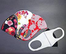 Маска защитная многоразовая для лица с принтом (1шт) цвета в ассортименте