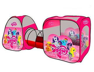 Детская игровая палатка с туннелем My Little Pony 3в1