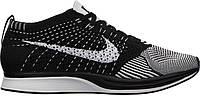 Кроссовки Nike Flyknit Racer в черно-белом цвете