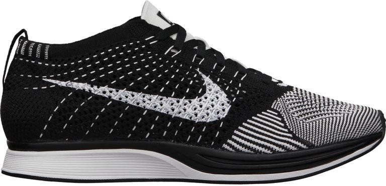 Кроссовки Nike Flyknit Racer Black White, фото 1
