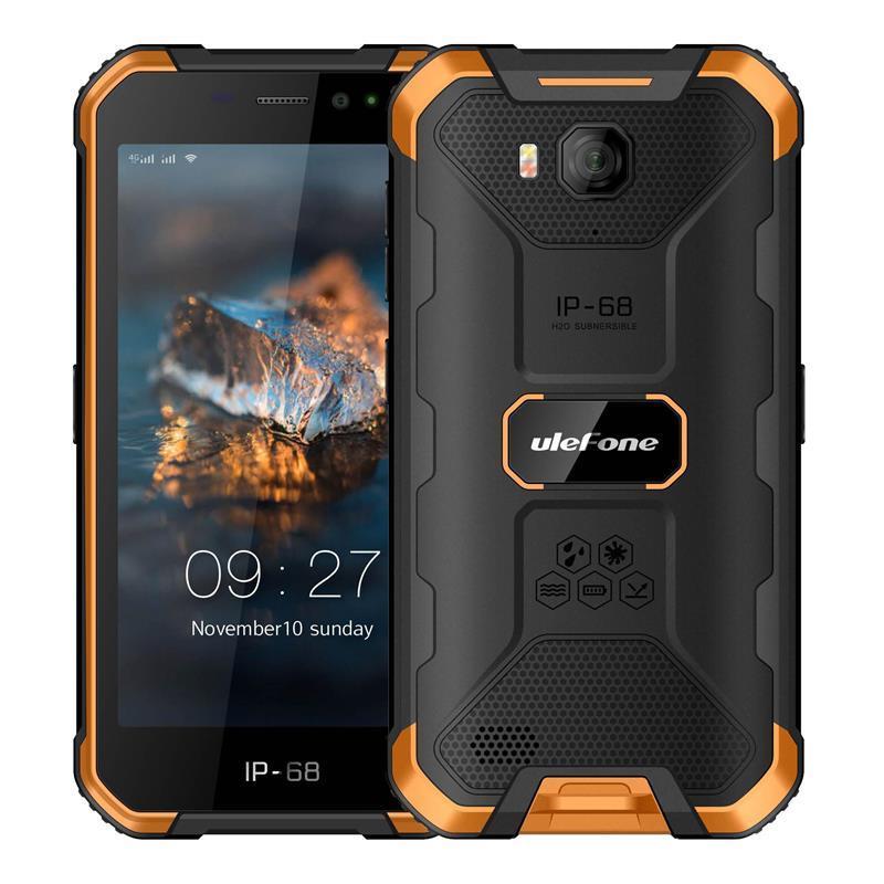 Смартфон Ulefone Armor X6 Dual Sim Black/Orange (6937748733430), 5 (1280x720) IPS / MediaTek MT6580 / ОЗУ 2 ГБ