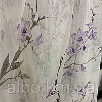 Ніжний тюль з батисту з квітами на метраж, висота 2.8 м, фото 3