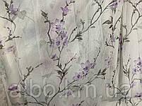 Ніжний тюль з батисту з квітами на метраж, висота 2.8 м, фото 2