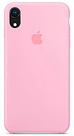 Силиконовый чехол на айфон розовый Silicone Case for Apple iPhone XR Candy pink