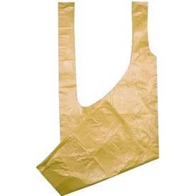 Фартук полиэтиленовый одноразовый Panni Mlada 0,8х1,25 м (10 шт.) Желтый