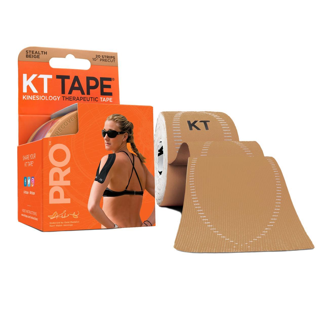 Кинезио тейп Kt Tape Pro Synthetic Precut 5см х 5м (Бежевий)