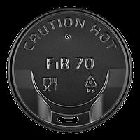 Крышка FiB 70 Черная 50шт/уп.175 стакан (1ящ/30уп/1500шт) , фото 1