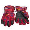 Водовідштовхуючі  дитячі лижні рукавички, розмір 14, червоний, плащівка, фліс, синтепон (516987), фото 2