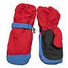 Водовідштовхуючі дитячі лижні рукавиці, розмір 13, червоний, плащівка, фліс, синтепон (517137), фото 2