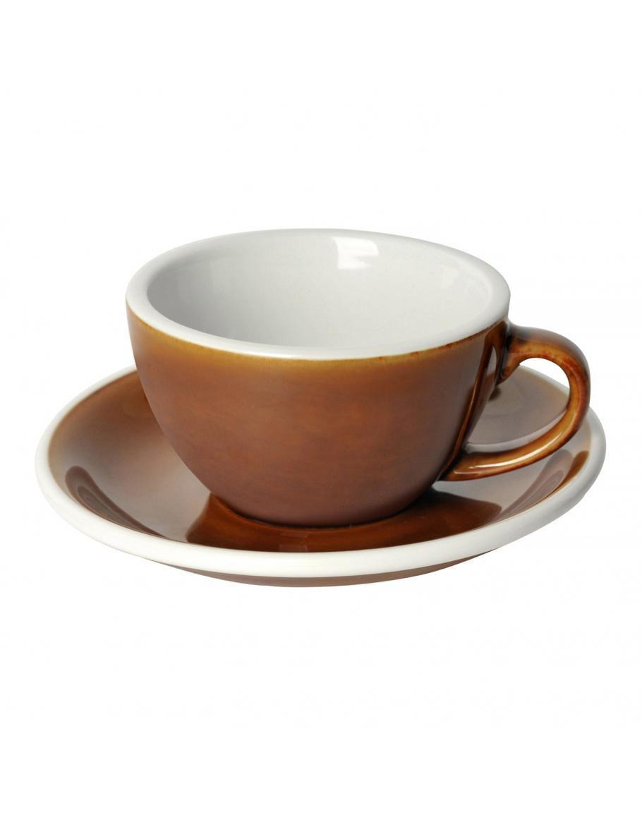 Набір чашка та блюдце для кави з молоком  Loveramics Egg 150ml Flat White Cup & Saucer (Caramel)