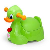 Горшок детский с ручками OK Baby Quack, цвет салатовый (37074430)