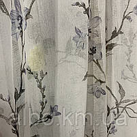 Тюль с цветочным принтом батист на метраж, высота 2.8 м, фото 3