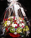 Фруктово - квітковий букет у кошику, фото 3
