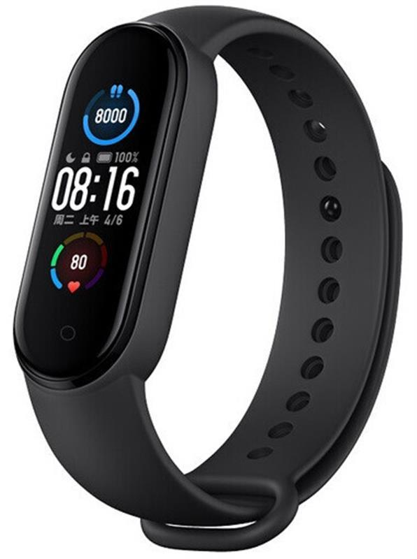 Фитнес-браслет Xiaomi Mi Smart Band 5 Black Global_, 1.1 (294x125) AMOLED сенсорный / Bluetooth 5.0 / 5 ATM /