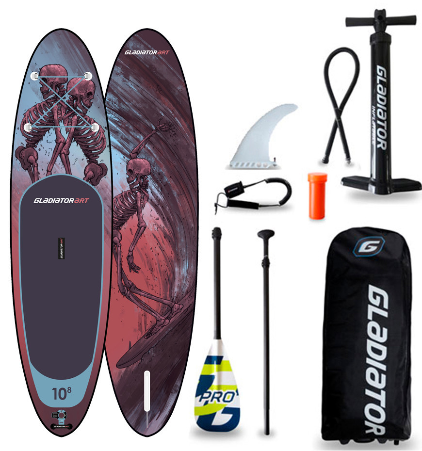 "Сапборд Gladiator ART 10'8"" x 34"" RIDE 2021 - надувна дошка для САП серфінгу, sup board"