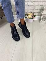 Ботинки кожаные на шнуровке, фото 1