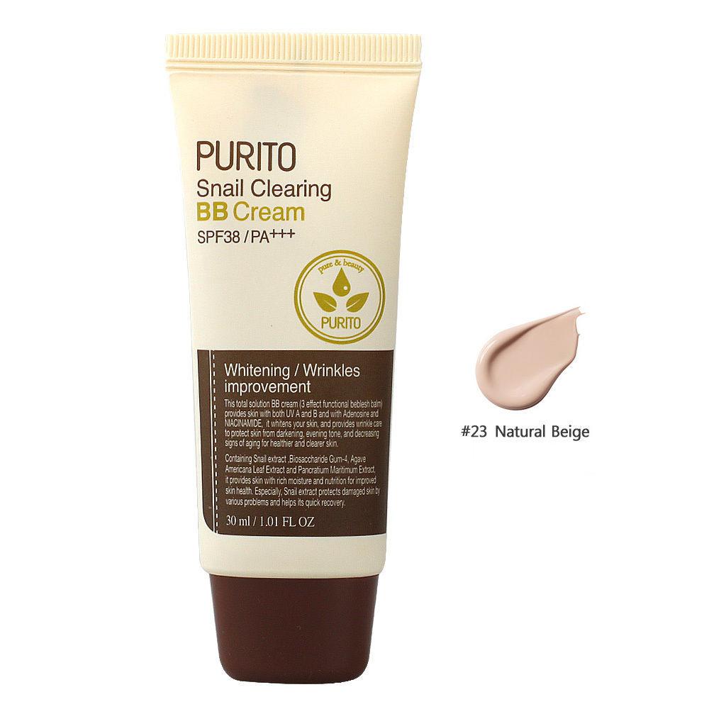ВВ-крем с муцином улитки Purito Snail Clearing BB Cream SPF38 PA+++ №23 Natural beige 30 мл