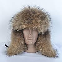 Стильная мужская шапка на зиму с мехом Енота