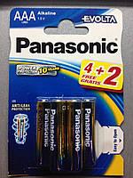 Батарейки Panasonic EVOLTA LR03/AAA BL6 (щелочные)