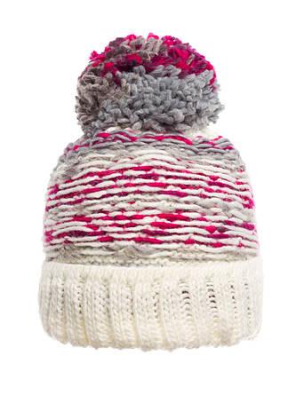 Оригинальная красивая теплая вязаная женская шапка, молочная, Польша., фото 2